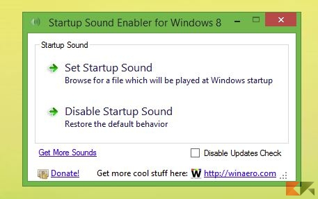 suono avvio Windows - Startup sound enabler