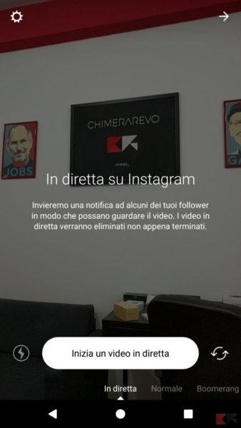 video diretta instagram