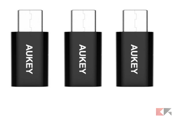 2016 12 12 10 10 05 AUKEY Adattatore USB C a Micro USB Femmina 3 pack Connettore USB C per OnePl