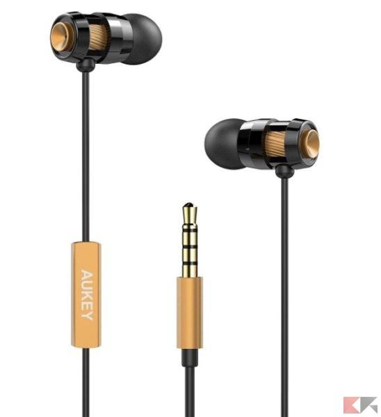 2016 12 12 10 17 59 AUKEY® Auricolari Cuffie In Ear Stereo Headset con Vivavoce Design avanzato di