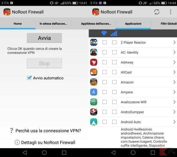 bloccare gli annunci nelle applicazioni android tramite firewall