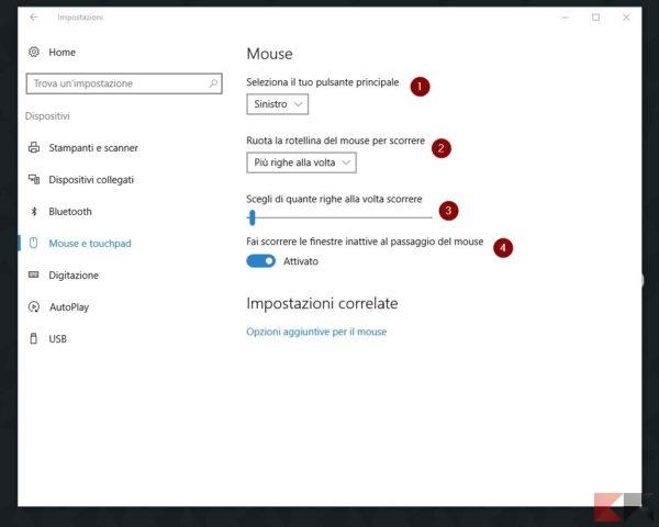 configurare mouse in Windows 10