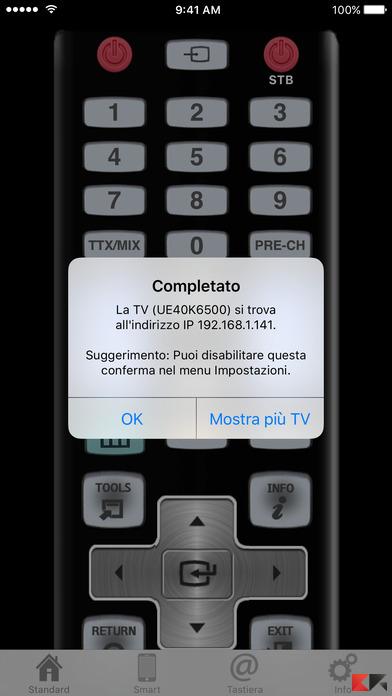 usare iPhone come telecomando