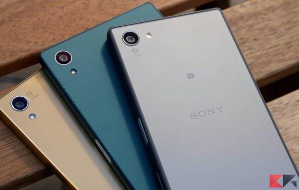 Aggiornamenti a Android 7 Nougat: Sony