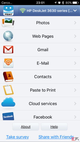 stampare da iphone e ipad