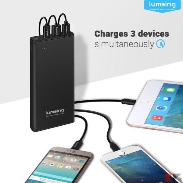 Power Bank Lumsing Quick Charge 3.0 da 10.000 mAh