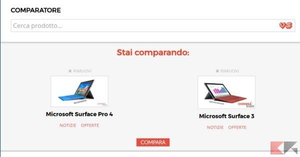 Confronto tablet i parametri di scelta chimerarevo - Comparatore a finestra ...