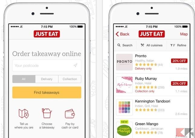 migliori app ordinare cibo