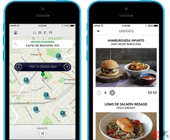 Cibo a domicilio Uber EATS