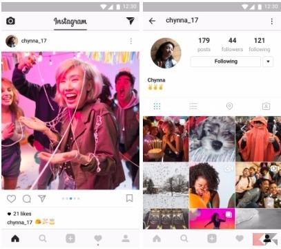Carosello foto Instagram