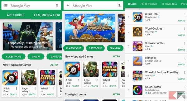 Giochi gratis play store