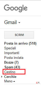 email cancellate gmail