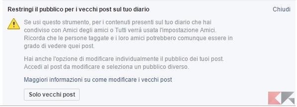 facebook restringi il pubblico