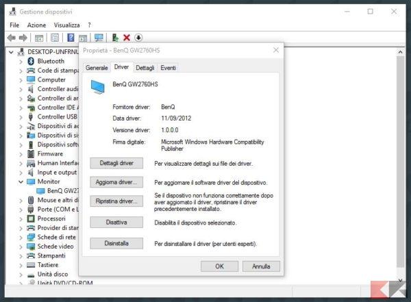 Gestione dispositivi Windows