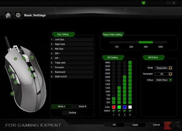 mouse gaming aukey km c4