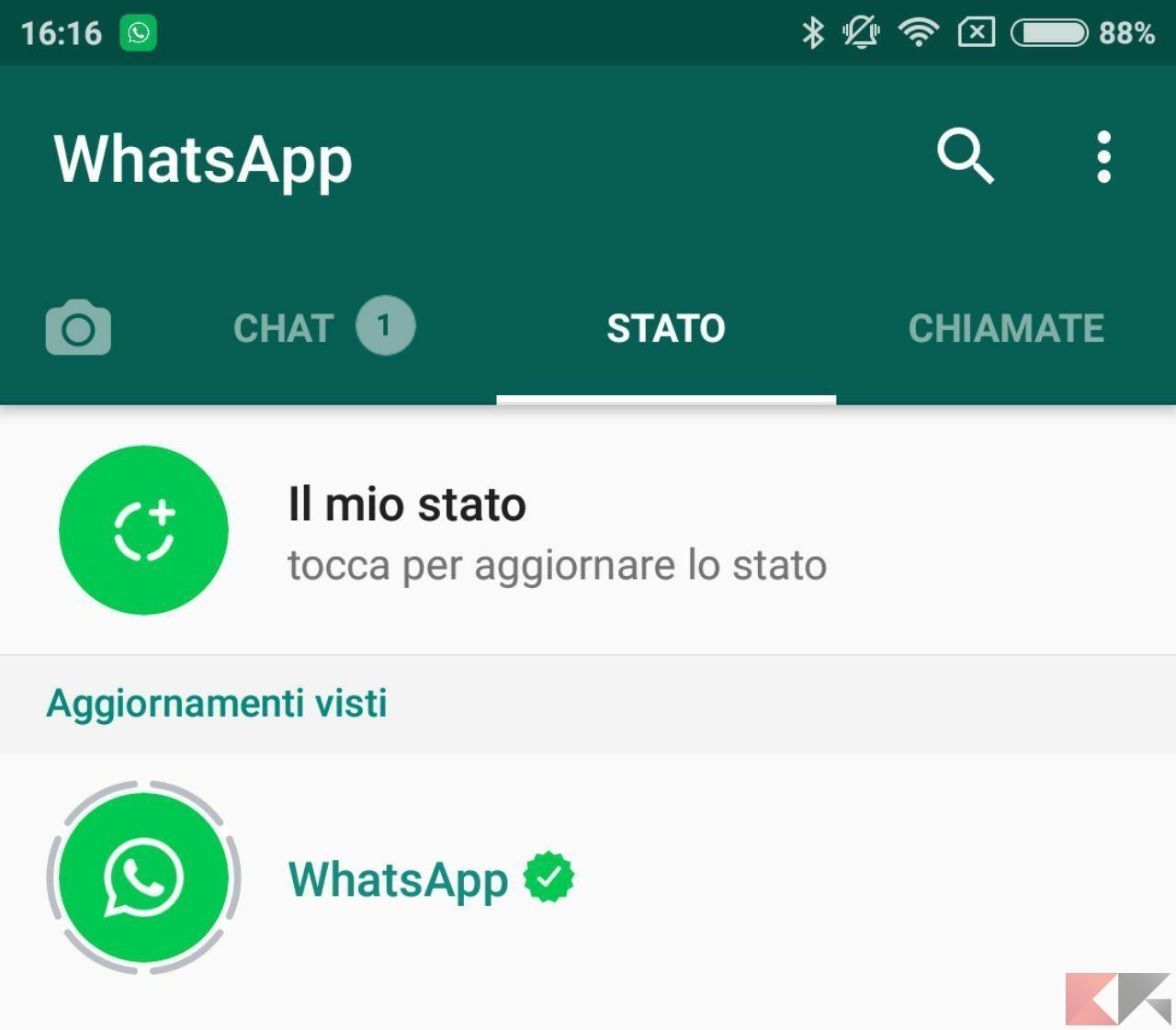 Stato di WhatsApp
