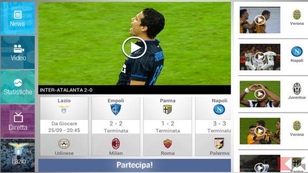 Serie A in Streaming- Serie A Tim app