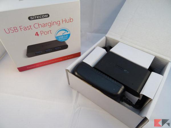 HUB USB 3.0 Sitecom 4 porte alimentato