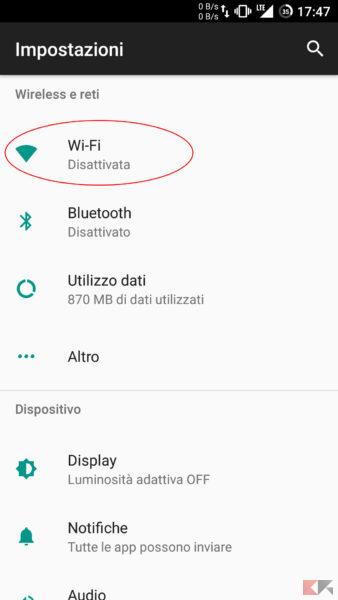 Impostare IP Statico Android 1