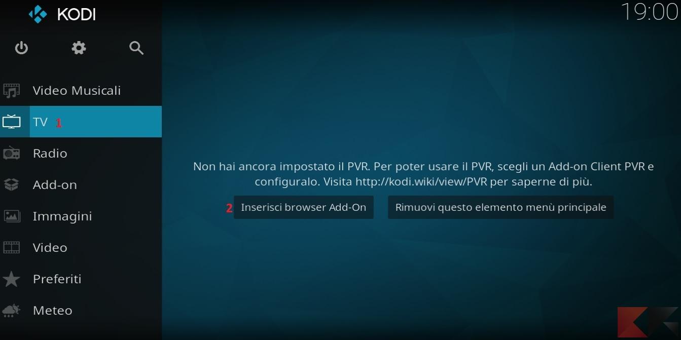 Kodi e liste IPTV M3U: il primo passo della configurazione del client PVR