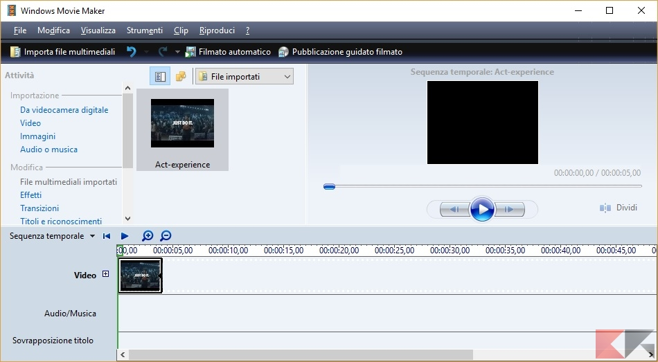 windows movie maker ultima versione