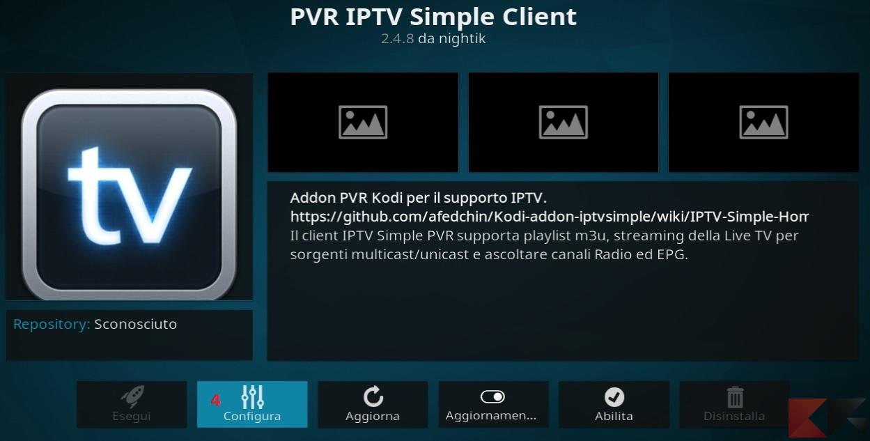 Kodi e liste IPTV M3U: il terzo passo della configurazione del client PVR