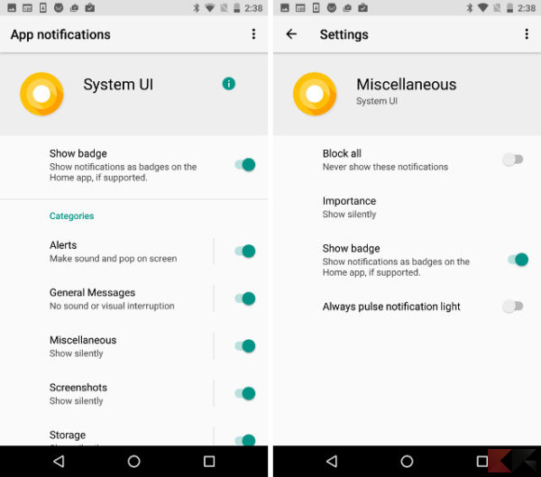Android O - notifiche