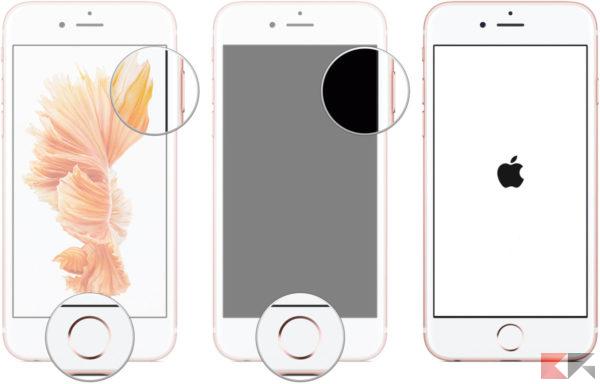 iphone si blocca - come riavviare
