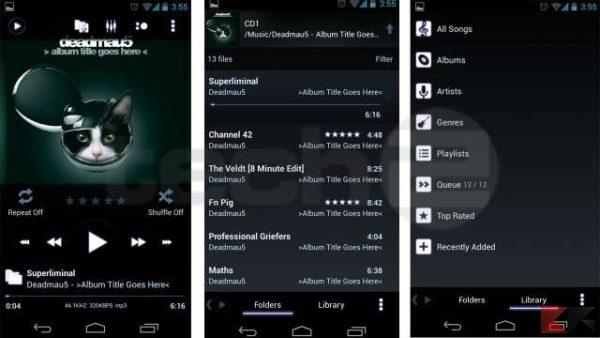 PowerAmp - app per ascoltare musica