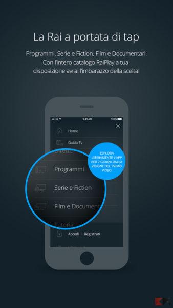 RaiPlay - guardare film gratis su iPhone e iPad