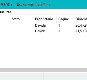 windows 10 - stampante offline