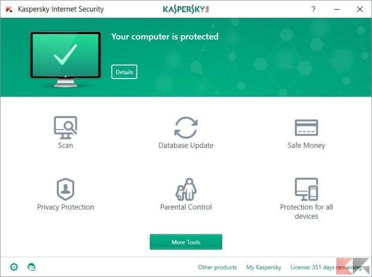 512622 kaspersky internet security 2017 main window