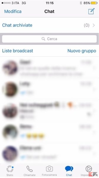 Archiviare chat whatsapp iphone