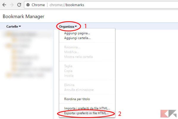 Esportare in Google Chrome 3