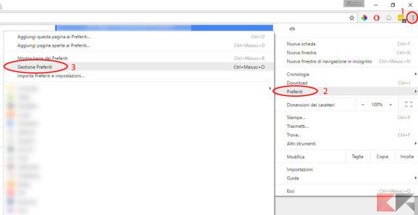 Esportare in Google Chrome