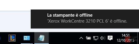 stampante offline