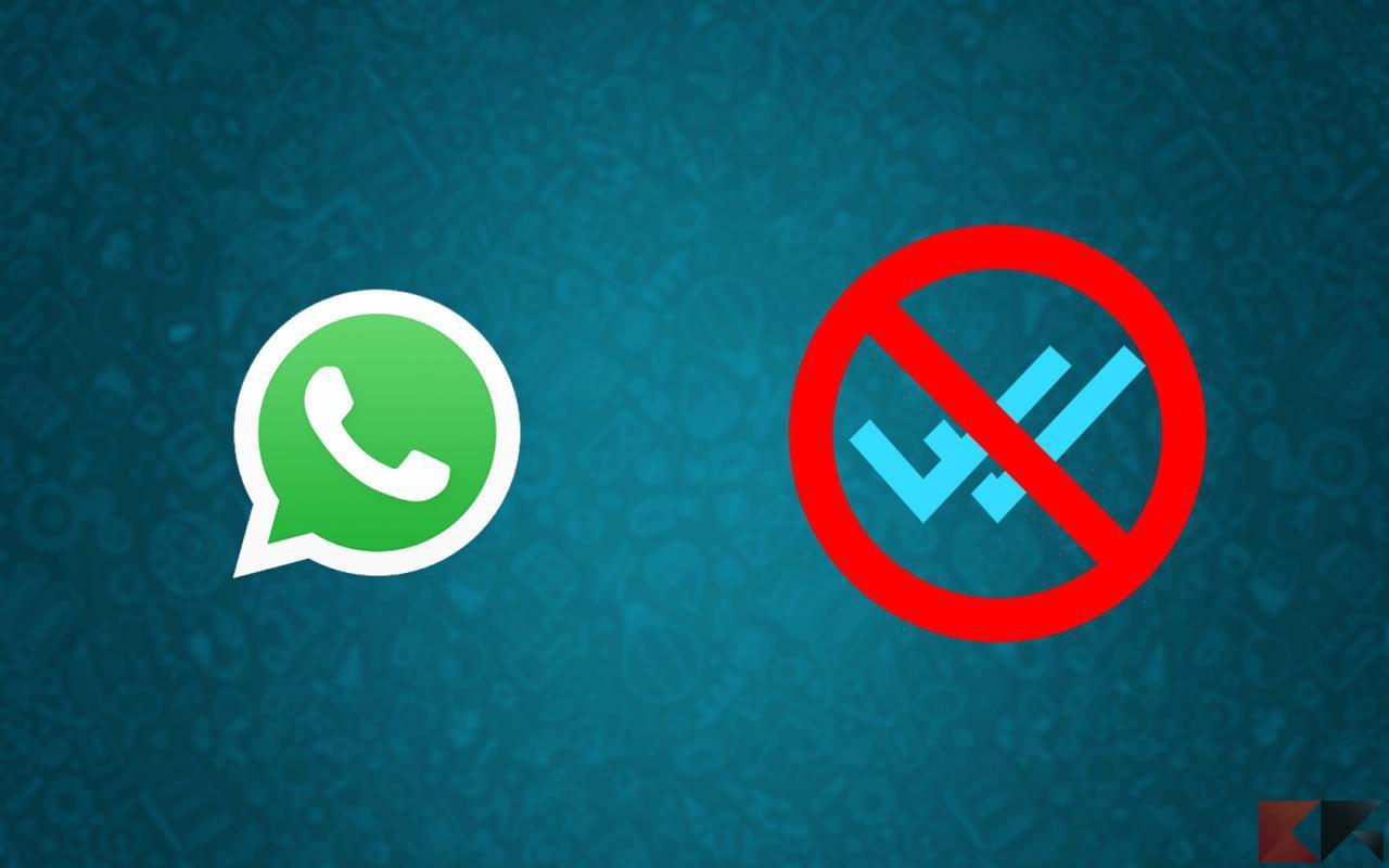 whatsapp senza spunte blu