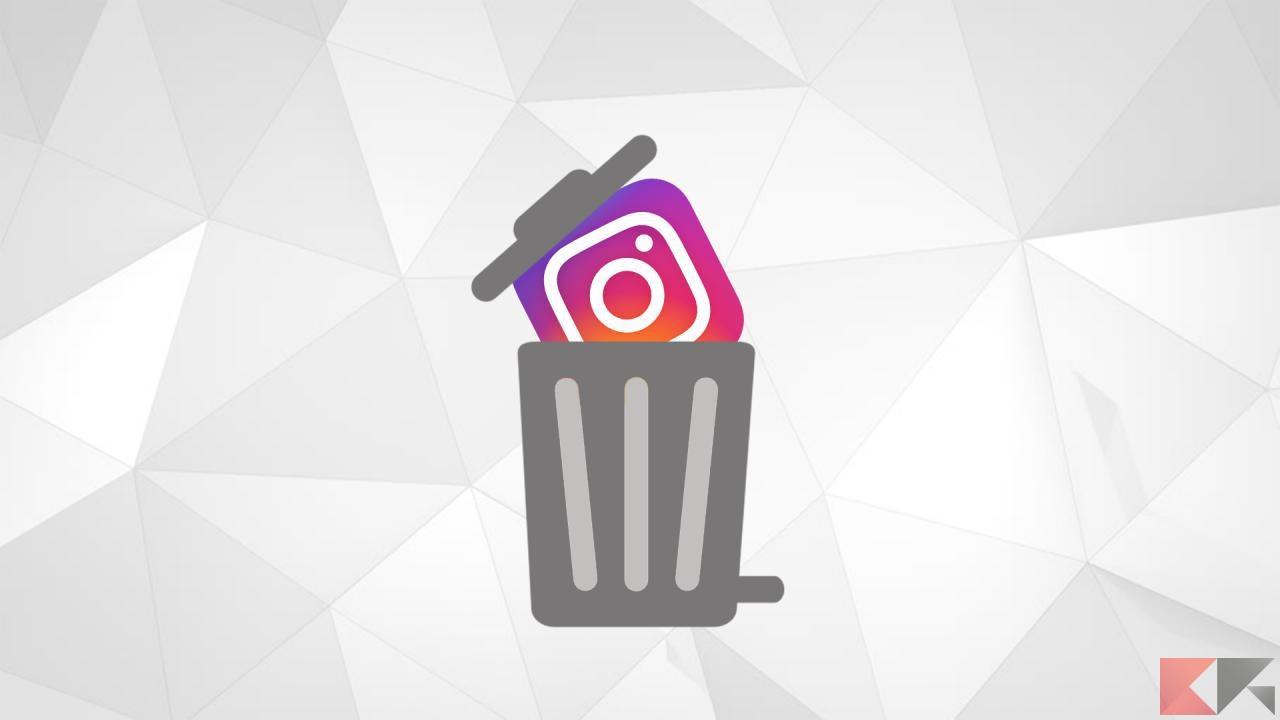 cancellare foto video Instagram