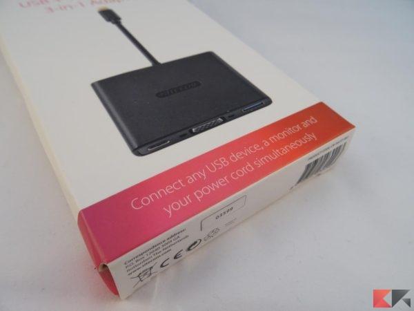 Adattatore USB-C SITECOM 3-in-1 Type C VGA USB 3.1