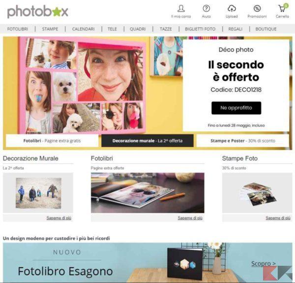 photobox - stampare foto online