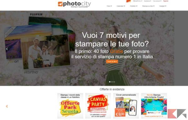 photocity - stampare foto online