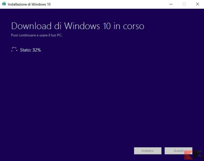 scaricare ISO windows 10