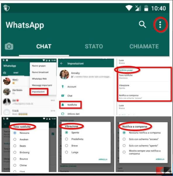 silenziare gruppo WhatsApp su Android