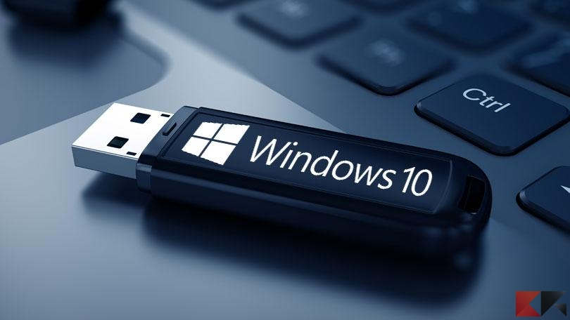 formattare windows 10