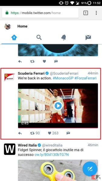 Come scaricare video da Twitter
