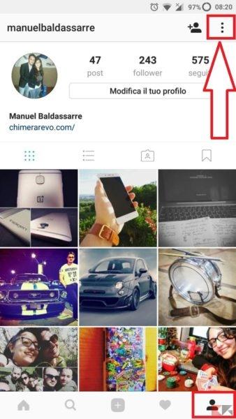 Impedire a una persona di vedere storie Instagram