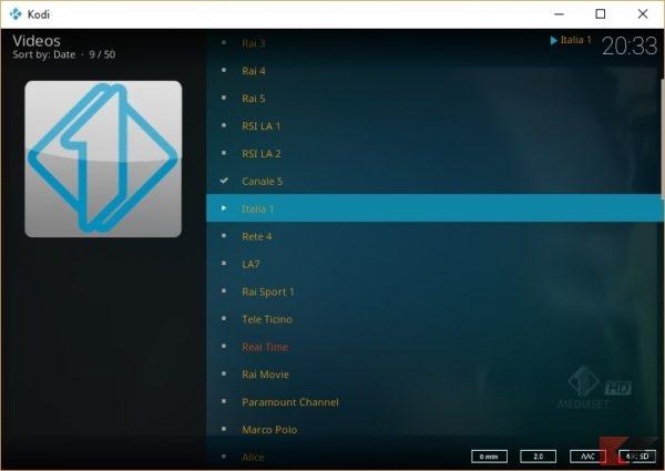 Un ottimo add-on per kodi: Kodi Live TV, la lista dei canali