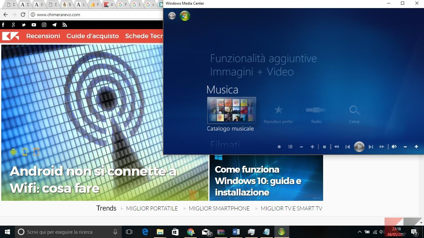 Windows 10 con media center - ChimeraRevo