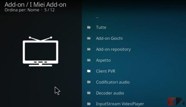 PVR IPTV Simple client - EPG Kodi