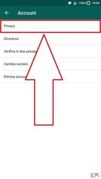come nascondere informazioni WhatsApp
